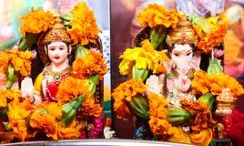 Diosa Lakshmi y Lord Ganesha Imagen de archivo