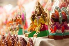 Diosa Lakshmi y Lord Ganesha en Dewali Foto de archivo