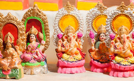 Diosa Lakshmi y Lord Ganesha en Diwali Fotografía de archivo libre de regalías
