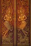 diosa tallada madera vieja Fotos de archivo