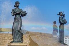 Diosas que nadan en el abierto fotos de archivo libres de regalías