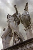 Dioscuri Statue in Rome Royalty Free Stock Photo