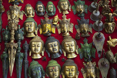 Dioses de Buddism de la decoración de la pared Imagenes de archivo