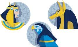 Dioses de Eygptian Foto de archivo libre de regalías