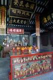 Dioses de tierra chinos del templo del toitei del templo en Macao China Foto de archivo