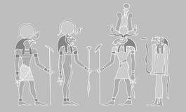 Dioses egipcios y símbolos Foto de archivo