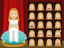 Dioses griegos Aphrodite Costume Cartoon Emotion hacen frente al ejemplo del vector Fotos de archivo libres de regalías