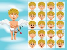 Dioses griegos Demeter Costume Cartoon Emotion hacen frente al ejemplo del vector Imágenes de archivo libres de regalías
