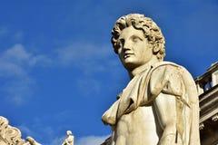 Dioskouri von Hügel Roms Capitoline bei Sonnenuntergang Lizenzfreie Stockbilder