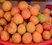Diospyros fruits for sale Royalty Free Stock Photography