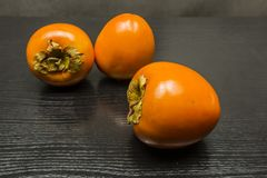 Diospyros kaki maturo arancio della frutta Fotografia Stock