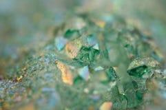 Dioxid för silikoner för kristallagat SiO2 Makro royaltyfri foto
