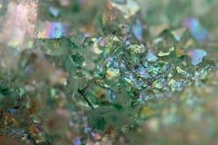 Dioxid för silikoner för kristallagat SiO2 Makro fotografering för bildbyråer