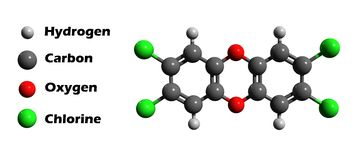 Dioxin 3D model Stock Photography