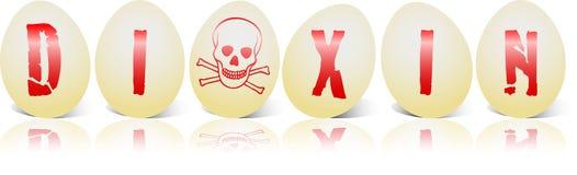 dioxin jajko sześć Obraz Royalty Free