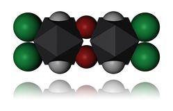 dioxin molekuła Fotografia Stock