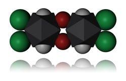 Dioxina - molécula Fotografia de Stock