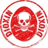 dioxinstämpel Royaltyfri Fotografi