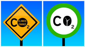 Dioxyde de carbone Photos libres de droits