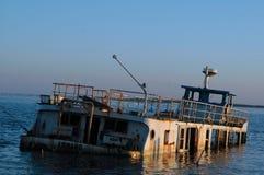 Dip Boat. Old dip Boat at sunset royalty free stock photos