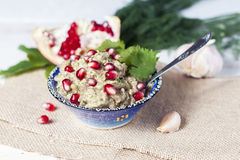 Dip eggplant , dish with cold appetizer. Stock Image
