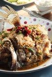 Dip Fried Fish Head stock photo