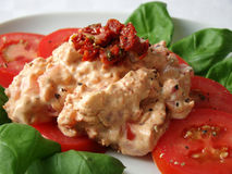 Dip made from tomatoes and cream cheese Stock Photo