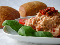 Dip made from tomatoes and cream cheese Royalty Free Stock Image