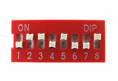 Dip switch Royalty Free Stock Images