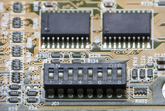 Dip Switch Macro Stock Photography