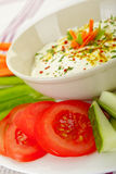 Dip and Vegetables Royalty Free Stock Images