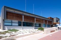Dipartimento delle industrie della pesca & dipartimento dell'ambiente e della conservazione Denham, baia dello squalo Immagine Stock