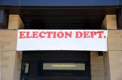 Dipartimento di elezione fotografia stock libera da diritti