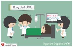 Dipartimento di ricoverato in ospedale Immagine Stock