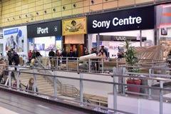 Dipartimento di Sony Center nel centro commerciale, immagine stock libera da diritti