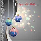 Diped colorful chocolate Christmas balls. Diped colorful chocolate Christmas balls with elegance style background. Vector Illustration, EPS 10 Stock Photos
