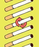 Dipendenza di fumo di cigarrettes Fotografie Stock