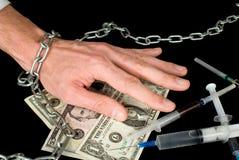 Dipendenza narcotica Fotografia Stock Libera da Diritti