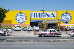 Dipepsa supermarket Stock Image