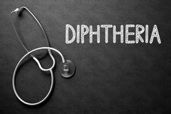 Diphtheria - Text on Chalkboard. 3D Illustration. Royalty Free Stock Images