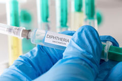 Diphtheria vaccination. A plain medical diphtheria vaccination Royalty Free Stock Image