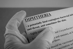 Diphtheria virus. Diphtheria is an infection caused by the bacterium Corynebacterium diphtheriae Stock Images