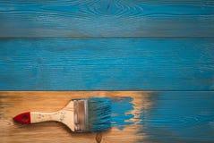 Dipinga i bordi in blu Immagine Stock Libera da Diritti