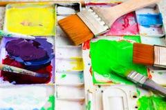 Dipinga i vassoi Immagine Stock