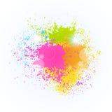 Dipinga il carretto tradizionale di saluto della celebrazione di festa felice di Holi India di festival di colore della spruzzata royalty illustrazione gratis