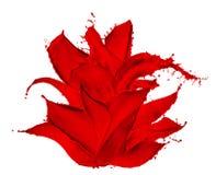 Dipinga il fiore della spruzzata fotografia stock