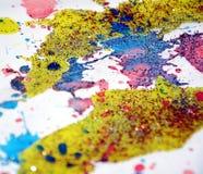 Dipinga il fondo cereo viola verde dell'oro giallo, progettazione creativa Fotografia Stock Libera da Diritti