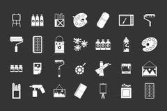 Dipinga il vettore grigio stabilito dell'icona degli strumenti illustrazione vettoriale