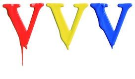 Dipinga l'alfabeto della sgocciolatura Immagine Stock