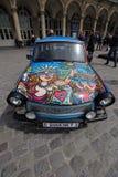 Dipinga l'automobile di arte fotografie stock